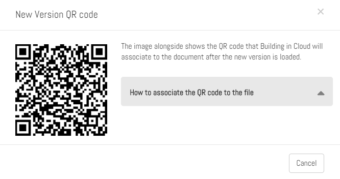"The ""QR code new version"" Popup"