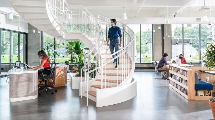 Co-working space - wework.com - BIM design